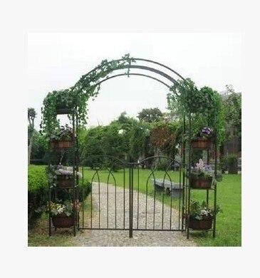 Hierro Forjado Jardin Arcos Forjado Flor Plancha Reposar Adorno - Arcos-de-jardin