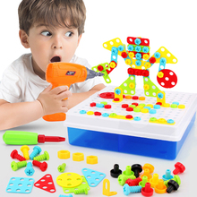 Boy Toys Electric Drill Toys Simulation Tool Toy Assembled Match DIY Model Kit Educational Building Toys Sets Screwing Toys