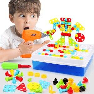 Image 1 - Jongen Speelgoed Elektrische Boor Speelgoed Simulatie Tool Speelgoed Gemonteerd Match Diy Model Kit Educatief Gebouw Speelgoed Sets Schroeven Speelgoed