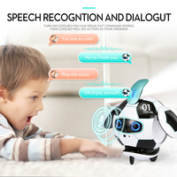 J01 Touch Deformation Dancing Mini Interactive Sing Voice Control For Child Cute Funny Robot Soccer Shape Gift Toy Electric