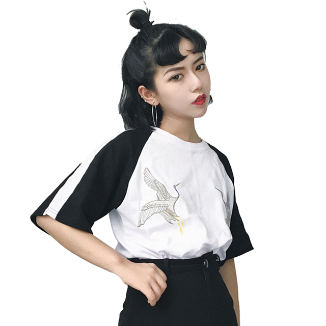 2fe0e379d02 Fashion Blusas 2018 Summer Best Friends T Shirt Korean Ulzzang Harajuku  Embroidery Short Sleeve T-shirts Women Casual Top Shirts