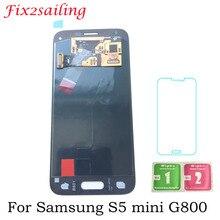4,5 дюймов Super Amoled ЖК дисплей S для Samsung Galaxy S5 Mini g800 g800f G800H дисплей сенсорный экран планшета Ассамблеи Новый
