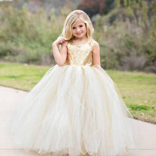2018 Toddler Baby Girl Princess Lace Backless Formal Party Pageant Fashion Cute Tutu Dress Hot