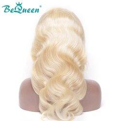 BeQueen Haar 13*6 perücken Spitze Front Menschliches Haar Perücken 613 # Farbe Blonde kurz menschliches haar perücken Körper welle Brasilianische Haar