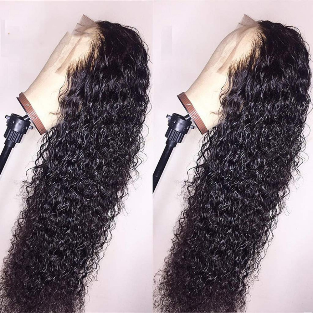 SimBeauty Glueless Water Wave Lace Front Wigs Unprocessed Malaysian Virgin Human Hair Wig Pre Plucked Natural With Baby Hair Wig