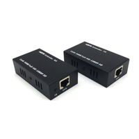 HDMI extender 60M on a single CAT6 support poc power video output 5 m AWG26 cable length