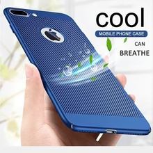 Case For Apple iPhone 7 6 S 6S 8 X Plus 5 5S SE Honeycomb Grid Black Back Cover Heat Dissipation Cooling Housing hard Phone Case s what elephant style protective plastic back case for iphone 5 5s blue black white