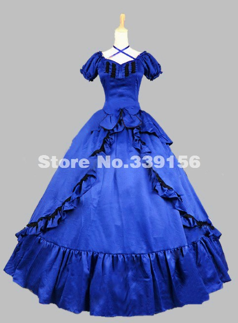 Popular Victorian Blue Dress-Buy Cheap Victorian Blue Dress lots ...