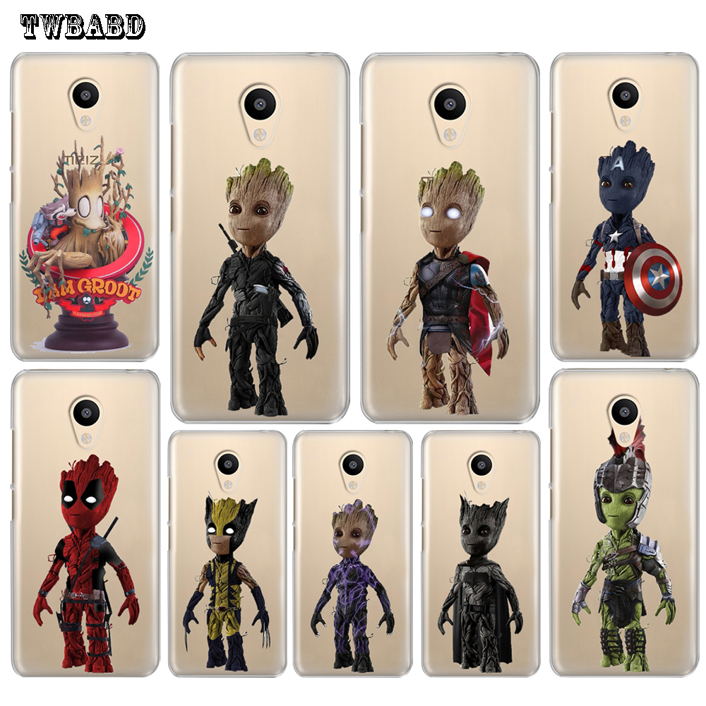 Guardians of the Galaxy Cute Groot phone shell for Meizu M6 Note case for M5 Mini M5c M5s M3 M5 M3S Pro6 U10 Slim Cover For U20