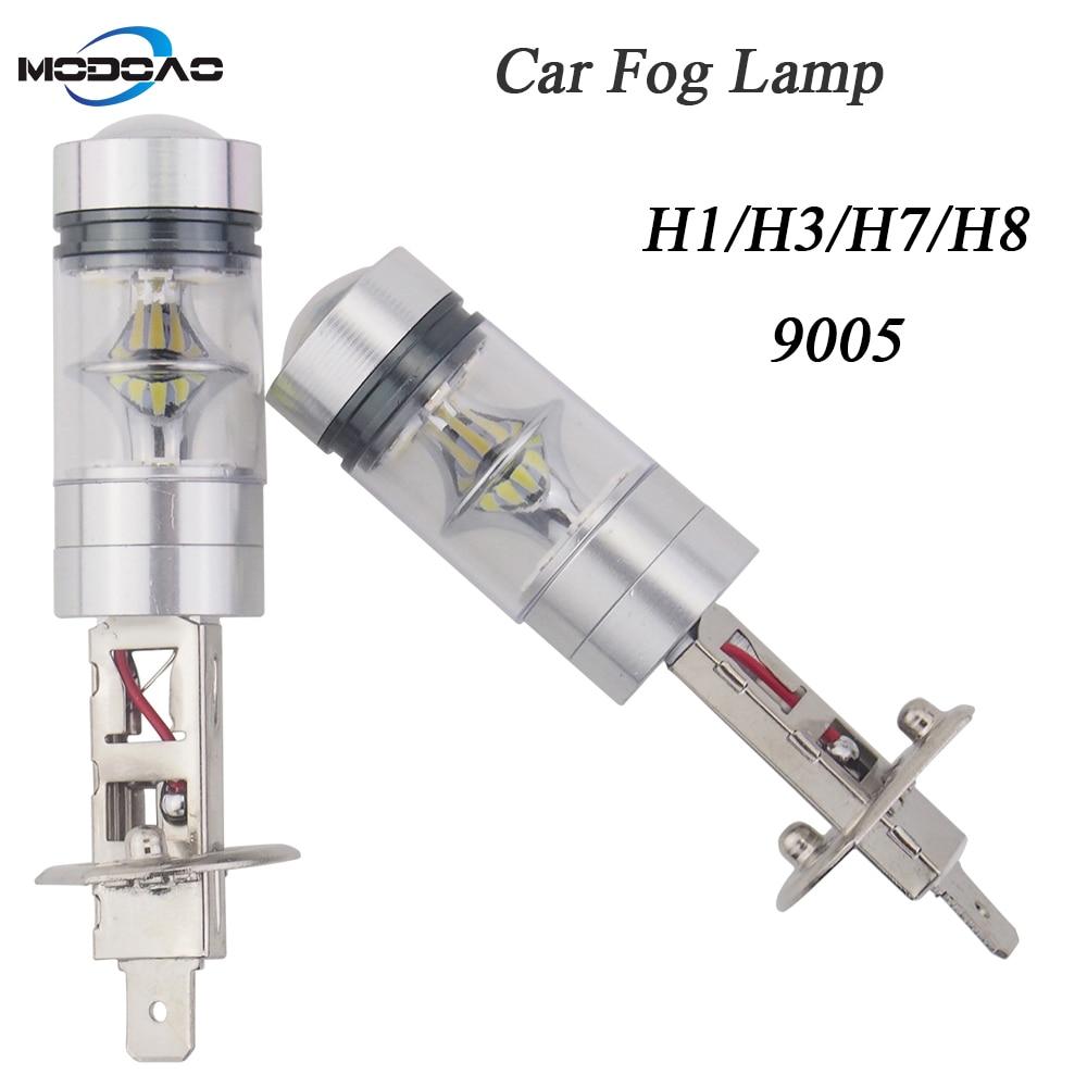 Pack von 2 Auto lichter led auto nebel lampen vehicel nebel lichter tagfahrlicht H1 H3 H7 H8 9005 anti-nebel licht
