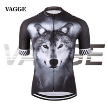 VAGGE 2017 wolf pro cyclist jersey/sports original summer men bike clothing/novelty unisex plus size 3D printed cycling clothes