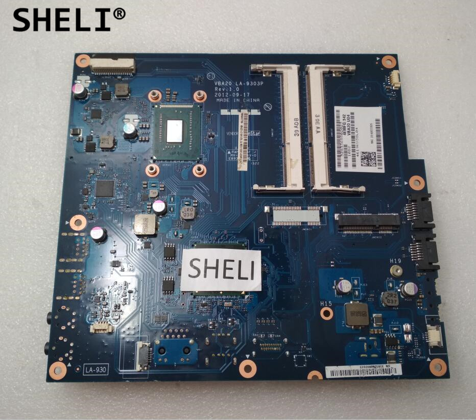 SHELI For Lenovo C240 All In One Motherboard with 1017U cpu LA-9303P original for hp touchsmart 23 all in one pc motherboard pn 732130 002 ipshb la 100