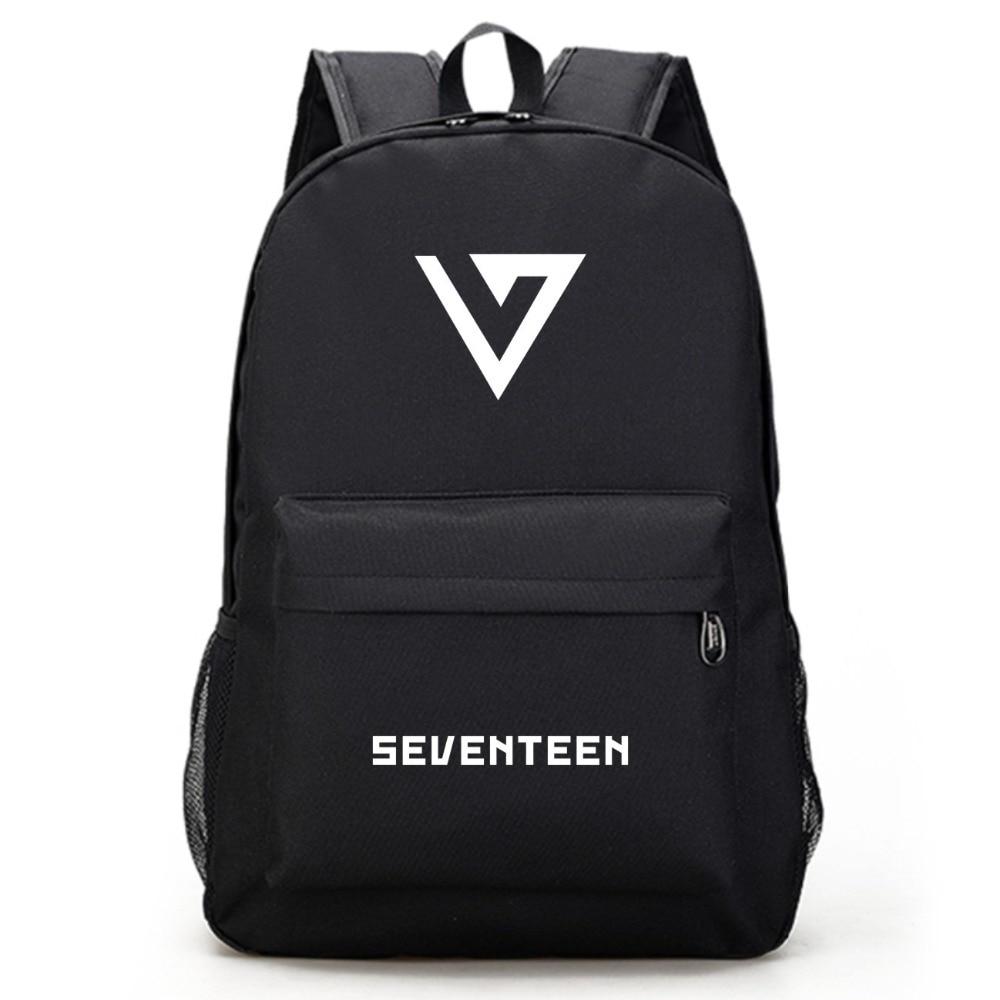 Monsta X Got 7 Seventeen Twice Black Backpack Bag Bookbag Travel Laptop Bag Teenager Schoolbag Book Bag Cosplay Xmas Gift Men's Bags