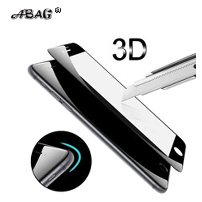 Tvrzené sklo pro iPhone 7 7 Plus 6 6+ X XR XS 9H Tvrdost PET Měkký 3D zakřivený plný kryt Anti-Blue Light Screen Screen Protector
