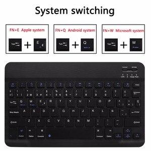 Image 5 - ספרדית מקלדת Case עבור Samsung Galaxy Tab S5e 10.5 2019 T720 SM T720 SM T725 Tablet Slim עור כיסוי מקלדת Bluetooth