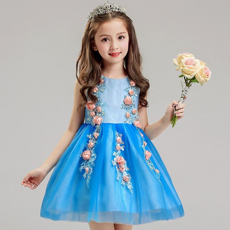 цена на BlueElegant Girls Princess Dress Kids Party Dresses For Girl Wedding Dress Christmas Children Fancy For Girl Costume 8 9 10 Year