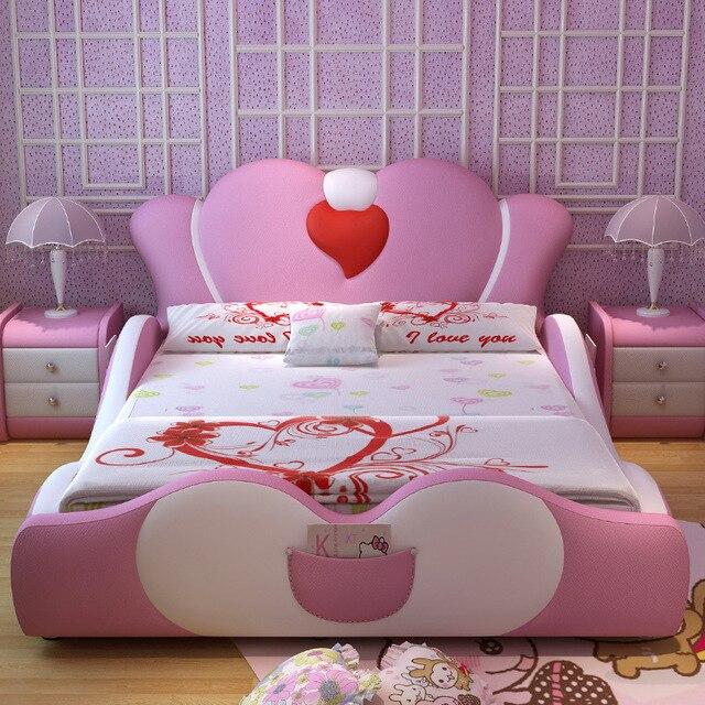 2017 Moderne meubles de maison lit pour chambre fixe en bois massif ...