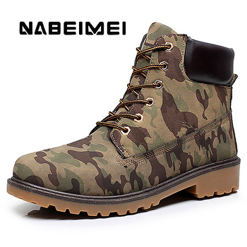 Men's Work boots Big size 45-46 Winter boots for men Waterproof Martin boots Militar 2019 Classic Rubber Hunting shoes