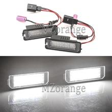 2Pcs Car LED License Plate Lights For VW BENTLEY Continental GT/GTC/Flying Spur/GT Speed/GTC 12V Number Lamp Bulb Kit