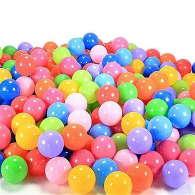 50pcs/Bag Fun Colorful Soft Swim Pool Ocean Ball Tent Ball Plastic Toys Balls Baby Kids Hot Selling Holiday Games