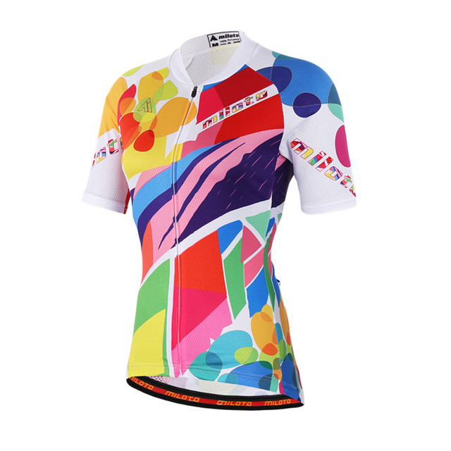 88dfe4cd5 MILOTO Womens Short Sleeve Cycling Jersey Ropa Ciclismo mtb Bike Jersey  Clothes Maillot Breathable Bicycle Cycling Clothing
