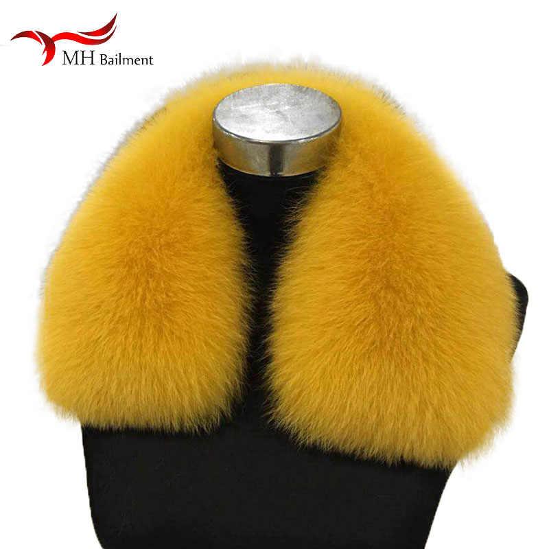 Oversized fox fur collar winter real fox fur male female ladies down jacket coat fur collar bib universal wild 100% fur scarf