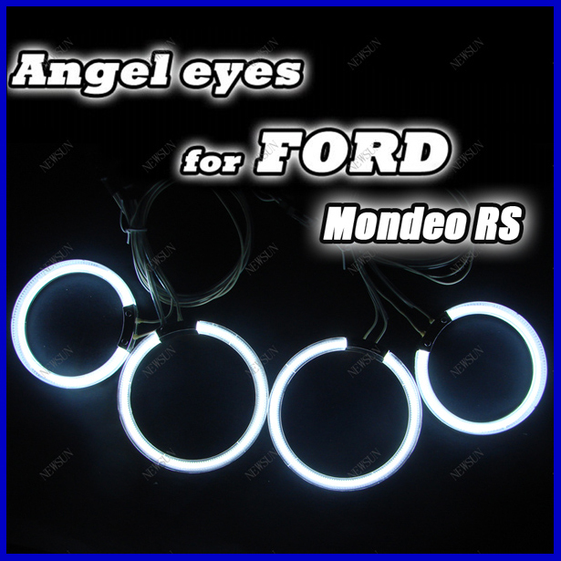 Free Shipping Ultra bright headlight illumination 4 X CCFL Angel Eyes White Halo Ring kit for FORD MONDEO/RS CCFL Lamp for ford edge 2011 2012 excellent ultrabright headlight illumination ccfl angel eyes halo ring angel eyes kit