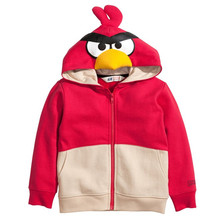 Little maven 2016 autumn winter boys/girls brand clothes children warm Hoodies & Sweatshirts Cotton lovely bird fleece WY001