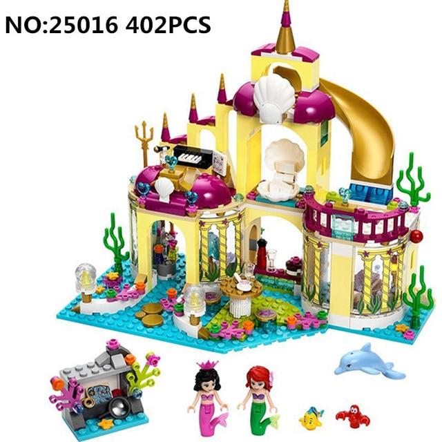 Diy Compatible con playmobil Girls Friends Series The Undersea Palace Set Castillo bloques de construcción ladrillos juguetes para niños regalos