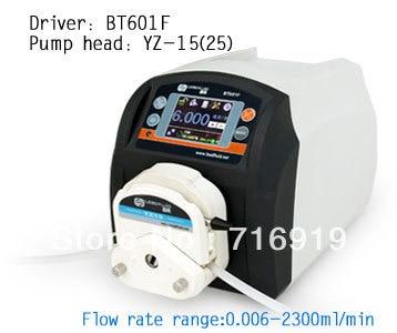 BT601F YT25 lab High Big Flow Precise Dispensing Intelligent Peristaltic Dosing Pump Water Liquid Industry Pump 0.17~2900ml/min