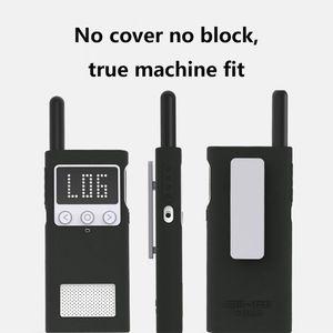 Image 5 - Capa protetora caso de silicone luva da pele acessórios portáteis para xiaomi mijia inteligente walkie talkie 1 s rádio