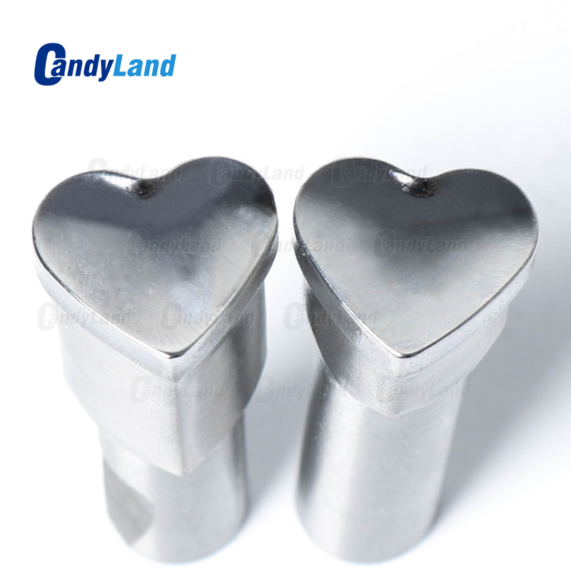 CandyLand Heart Milk Tablet Die 3D Pill Press Mold Candy Punching Die Custom Logo Calcium Tablet Punch Die For TDP 0 Machine