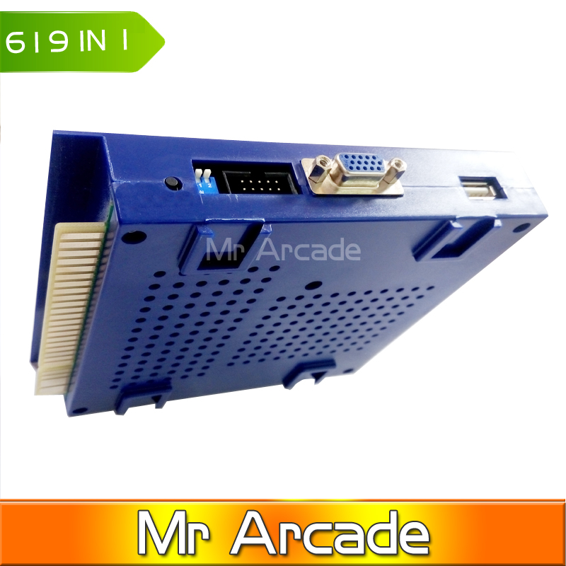 Hot sale Game Elf 619 in 1 update 621 in 1 Jamma Arcade Game PCB support CGA/VGA output for bartop up right arcade 619in1 621in1 free shipping pandora box 4 vga cga output for lcdcrt 645in1 game board arcade bundle video arcade jamma accesorios kit arcade