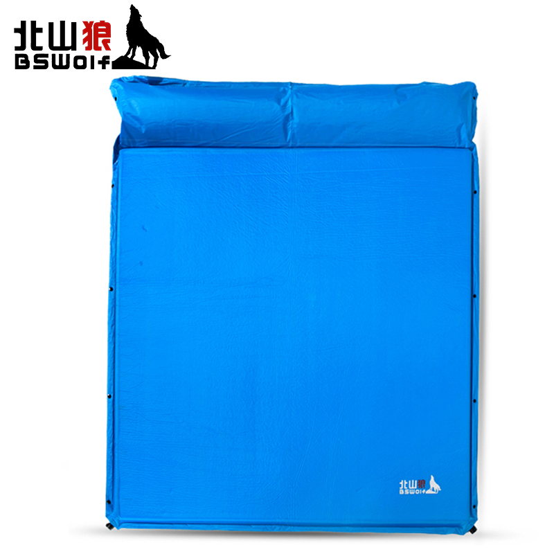 BSWolf Inflatable Automatic Cushion Ourdoor Camping Mat Tent Air Mattress Dampproof Pad Family 3-4 Persons Travel Soft Bed Mat creeper bl q001 convenient outdoor self inflation dampproof dacron air cushion mat camouflage