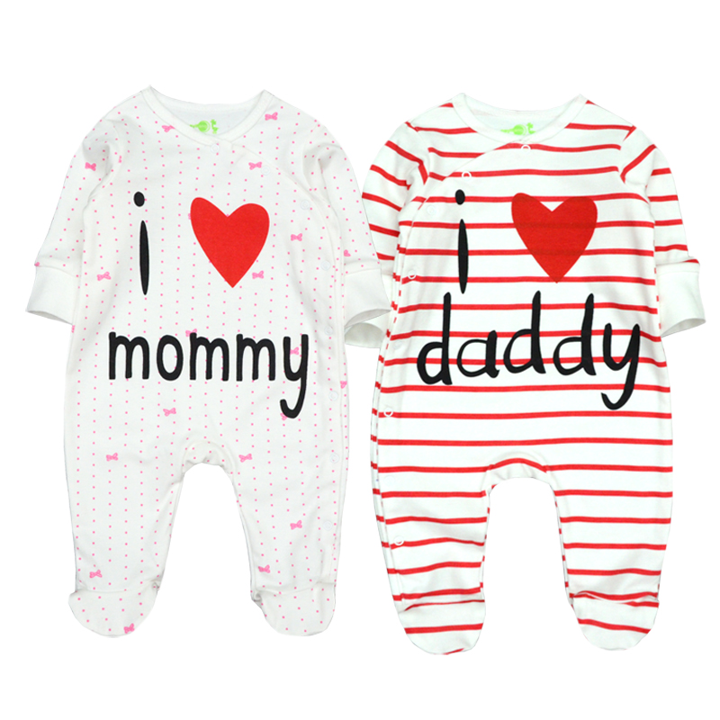 Newborn Boy Clothes Baby Rompers Infant Romper 100% Cotton Long Sleeve I love Mommy Toddler Girl Love Clothing Pyjamas for Kids newborn baby boy rompers autumn winter rabbit long sleeve boy clothes jumpsuits baby girl romper toddler overalls clothing
