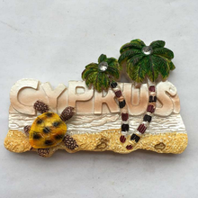 1pc Hot sale Cyprus tourism souvenir refrigerator exports of single Mediterranean magnetic stick Fridge Magnets home decor(China)