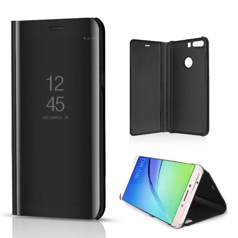 Claro Espelho de Vista Do Caso Da Aleta para Xiaomi Redmi Nota 5A 5 Mais 4X 5A MIX de luxo Capa de Couro PU Para Xiaomi Mi 2 6 5X 5C Caso Note3