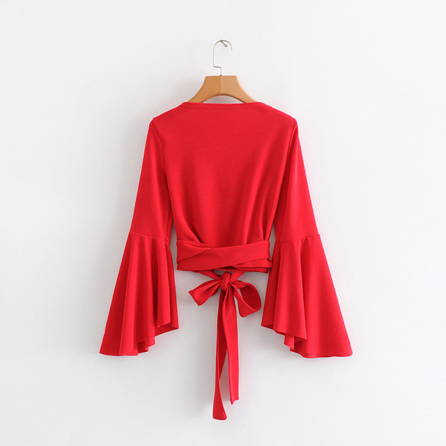 American fashion sleeve blouse 1