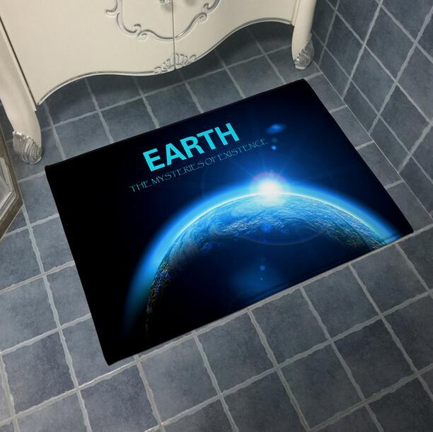 Earth Outline Doormat Area Rugs Floor Carpet Non-slip Floor Door Mats for coffee house Living Room Kitchen Floor Stairs Area mat