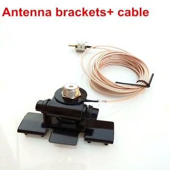 Coche Antena de látigo accesorios soportes radio móvil Antena de látigo clip con cable 5 medidor