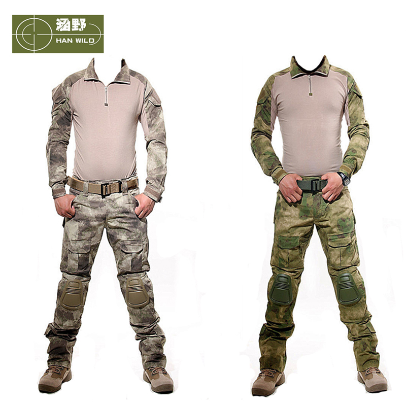 Military Combat Uniform Army Training CS Games Tactical Clothing Detachable Elbow Pad And Knee Pads Airsoft Tactical Suits winmax 6pcs set knee elbow protective pad