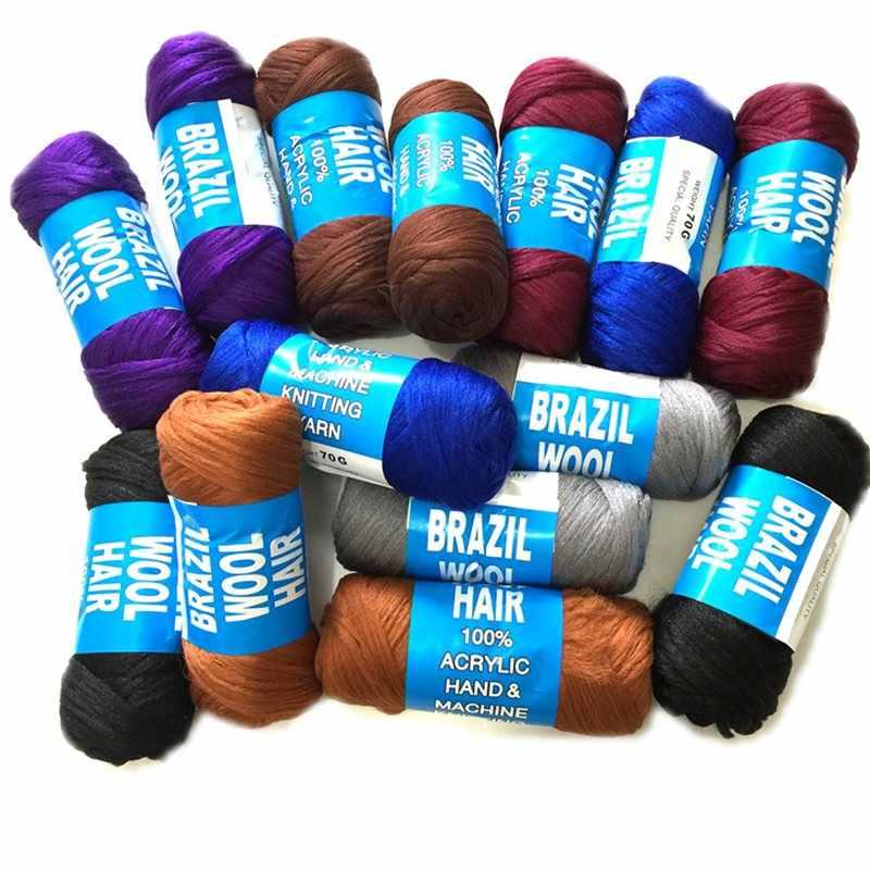 Desire for hair 1spool per lot 70g 7 colors Brazilian wool hair low temprature flame retardant synthetic fiber braiding hair