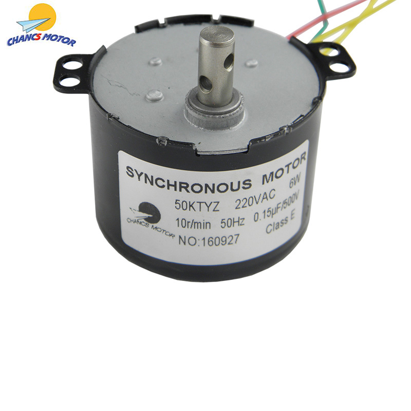 CHANCS AC <font><b>Motor</b></font> <font><b>220V</b></font> 50KTYZ <font><b>10RPM</b></font> Synchronous <font><b>Motor</b></font> Geared Permanent Magnet Slow Speed Reducer <font><b>Motors</b></font> image
