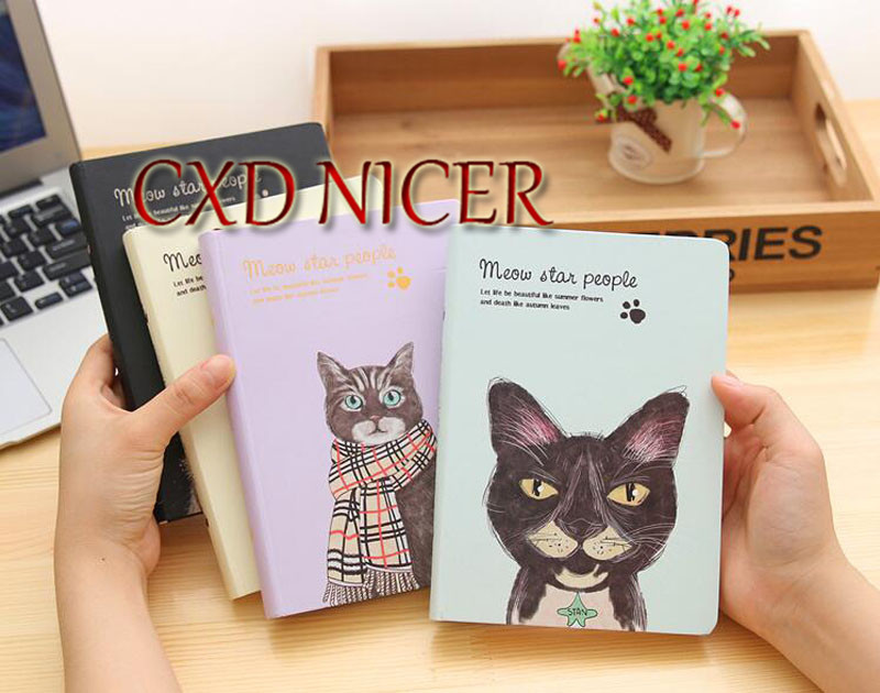 Fresh Illustrations Diary Creative Cute Cat Diary Monthly Weekly Planner Notebook Material Dd1350 diary