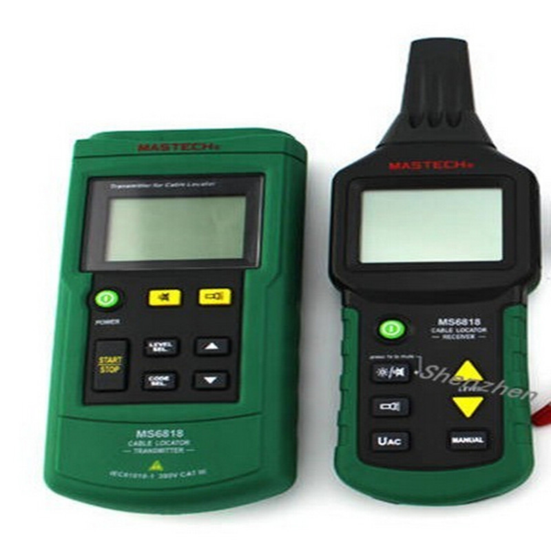 DHL shipping MS6818 Cable detector Wire Cable Metal Pipe Locator Detector Tracker Finder Metal Pipe Locator