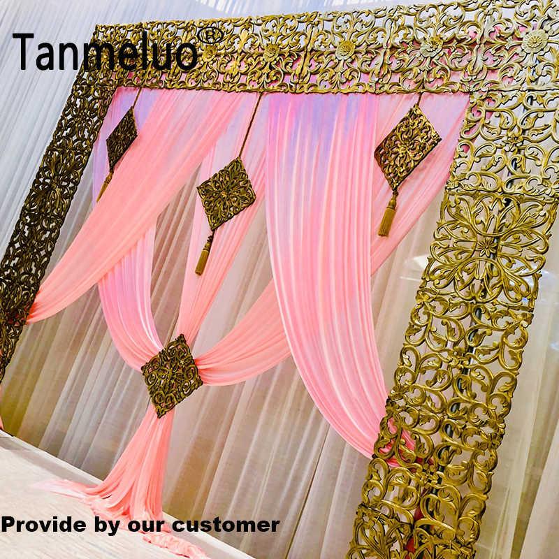 Роскошный розовый свадебный фон для занавесок для 3*3 м Праздничная занавеска только по индивидуальному заказу
