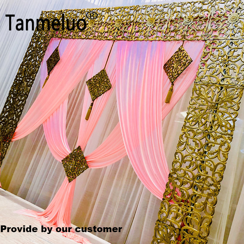 Image 3 - Luxury pink wedding backdrop curtain swags for 3*3M background event party curtain swags only Customized Color-in Party Backdrops from Home & Garden