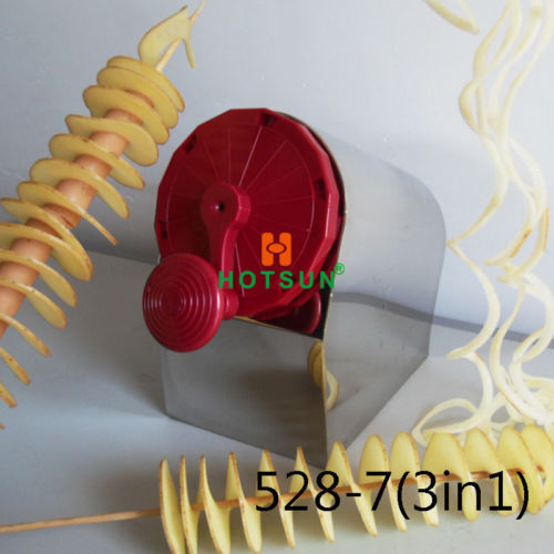 Free Shipping Stainless Steel Manual Spiral Potato Chips Curly Fries Twist Hot Dog Cutter Slicer