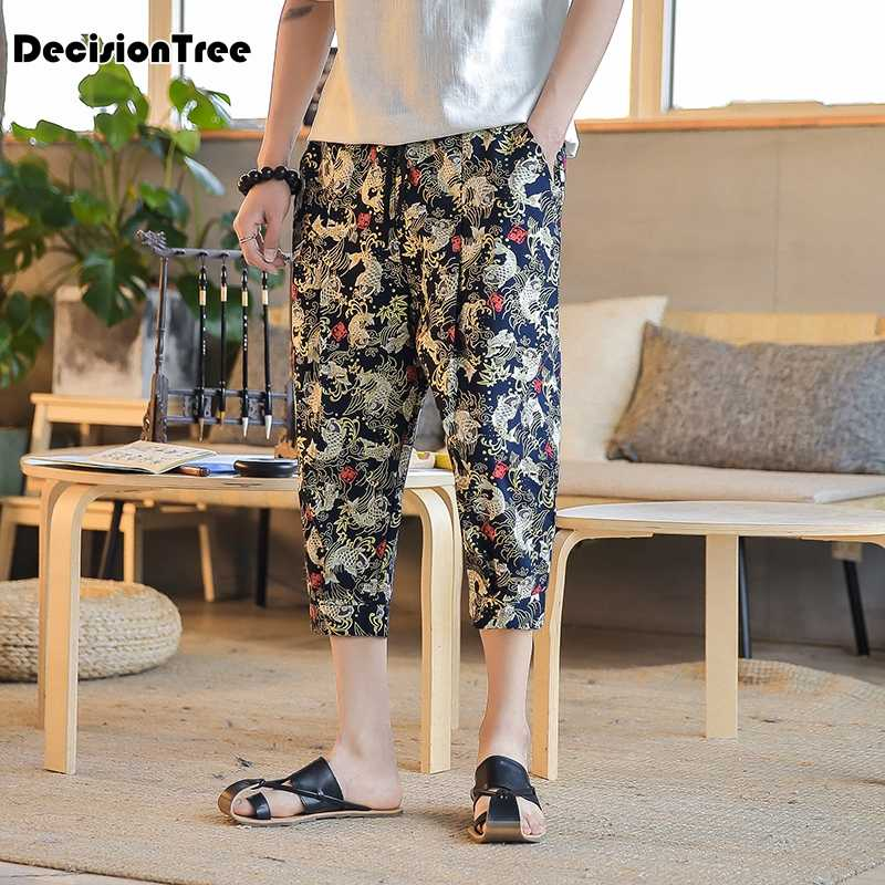 1551d6fb8b Detail Feedback Questions about 2019 new trendy punk men's crotch hippy  boho harem baggy loose hakama linen pants casual culottes nepal trousers  costume on ...