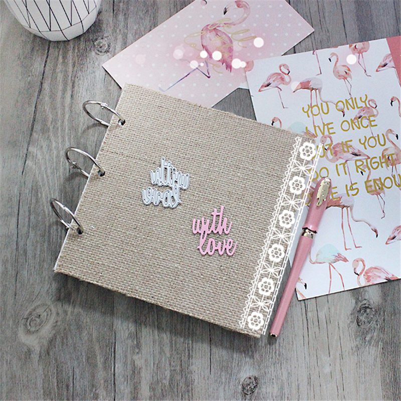 With Love Metal Die Cutting Scrapbooking Embossing Dies Cut Stencils Decorative Cards DIY album Card Paper Card Maker irregular flowers metal die cutting scrapbooking embossing dies cut stencils decorative cards diy album card paper card maker